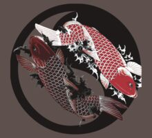 Koi Carp - Ying and Yang - Tattoo Style by GenoYon