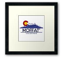 Moffat Colorado wood mountains Framed Print