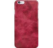 Pink leather texture closeup iPhone Case/Skin