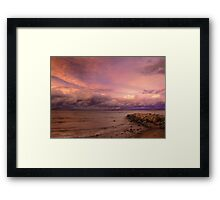 Sunset, Fury And Solitude On Georgian Bay - Part 2 © Framed Print