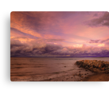 Sunset, Fury And Solitude On Georgian Bay - Part 2 © Canvas Print