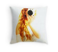 Rehead with camera  Throw Pillow