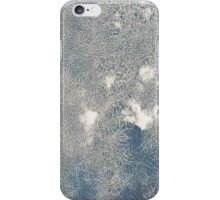 Blue cracked texture iPhone Case/Skin