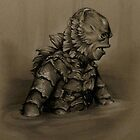 Creature From the Black Lagoon by SepiaDreamscape