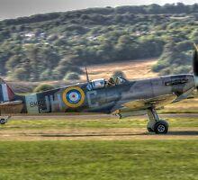Spitfire BM597 JH-C Takeoff  by Nigel Bangert