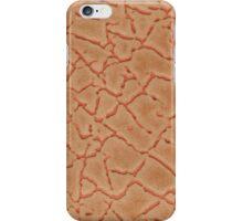 Orange leather texture closeup iPhone Case/Skin