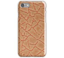 Orange leather texture closeup iPhone Case/Skin