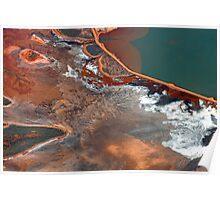 Pilbara Aerial Landscape - Ocean & Salt Poster