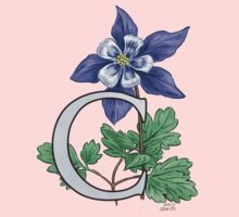 C is for Columbine - full image One Piece - Long Sleeve