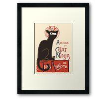 A French Ninja Cat (Le Chat Ninja) Framed Print