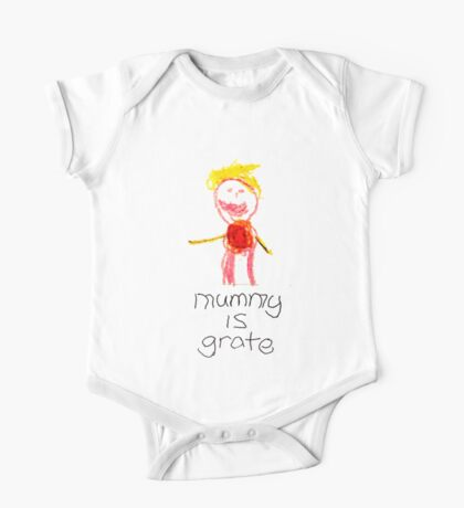 Mummy is grate One Piece - Short Sleeve