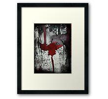Dark Side Series - Lipstick Red Framed Print
