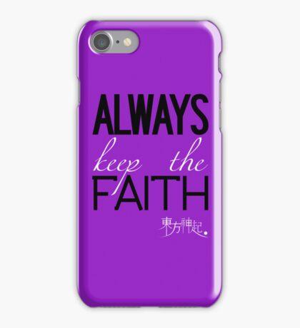 Always Keep The Faith - Purple iPhone Case/Skin