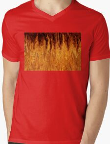 """We Didn't Start the Fire"" Mens V-Neck T-Shirt"