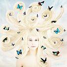 Butterfly girl by Linda Lees