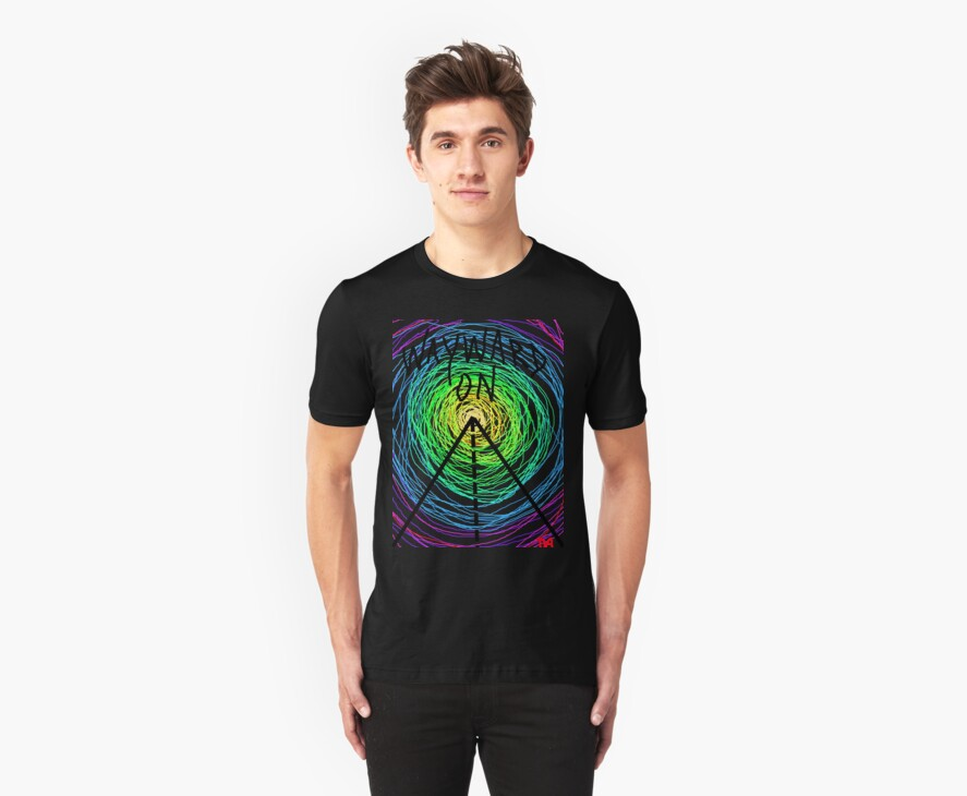 wayward son gypsy rainbow spiral art time travel tee  by Tia Knight