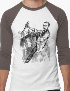 Barkeep on the Job (Transparent Background) Men's Baseball ¾ T-Shirt