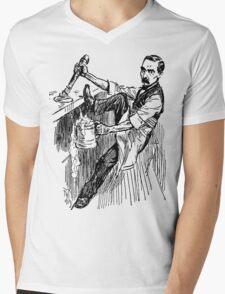 Barkeep on the Job (Transparent Background) Mens V-Neck T-Shirt