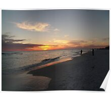 destin sunset Poster