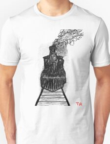 creepy dark locomotive train at night by TIA  T-Shirt