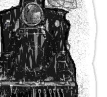 creepy dark locomotive train at night by TIA  Sticker