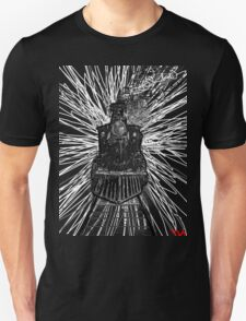 creepy dark locomotive train at night by TIA KNIGHT T-Shirt