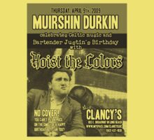 Muirshin Durkin @ Clancy's in Long Beach Featuring Hoist the Colors for Justin's Birthday by Scribblepinch