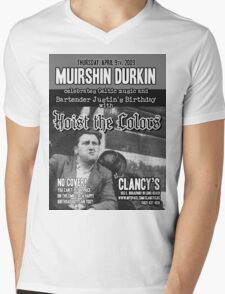 Muirshin Durkin @ Clancy's in Long Beach Featuring Hoist the Colors for Justin's Birthday Mens V-Neck T-Shirt