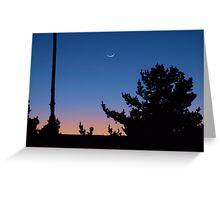 And the moon follows the sun Greeting Card