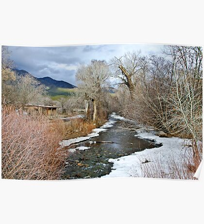Red Willow Creek - Taos Pueblo, New Mexico Poster
