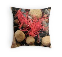Dropped blossom Throw Pillow