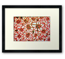 Leaf Hearts Framed Print