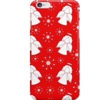 Red pattern with angels iPhone Case/Skin