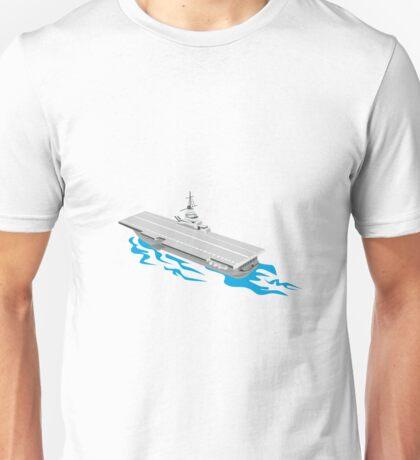 World War Two Aircraft Carrier Retro  Unisex T-Shirt