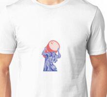Atlas Carrying Barrel Drum of Oil Retro Unisex T-Shirt