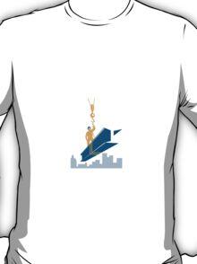 Construction Worker I-Beam Girder T-Shirt