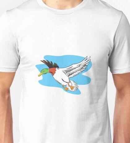 Mallard Duck Flying  Unisex T-Shirt