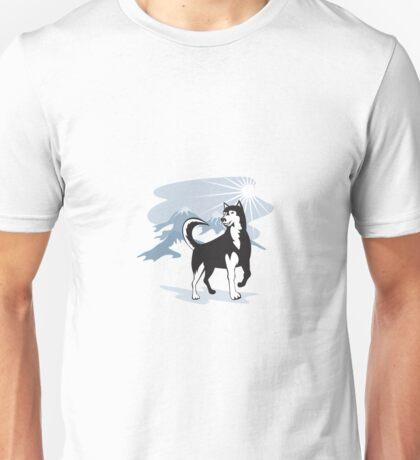 Husky Wild Dog Wolf Retro Unisex T-Shirt