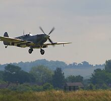 Spitfire at Duxford by John Dalkin