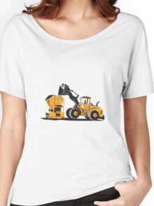 Front End Loader Digger Excavator Retro  Women's Relaxed Fit T-Shirt