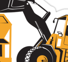 Front End Loader Digger Excavator Retro  Sticker
