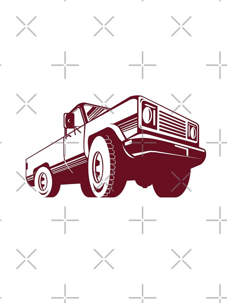 Pickup Truck Rear Retro  by patrimonio
