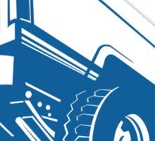 Pickup Truck Rear Retro  Sticker