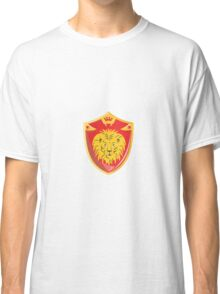 Lion Crown Shield Retro  Classic T-Shirt