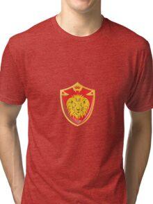 Lion Crown Shield Retro  Tri-blend T-Shirt