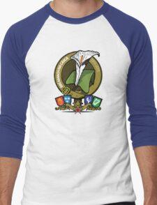The Easter Lily Badge Men's Baseball ¾ T-Shirt
