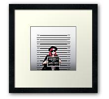 Mia Mugshot Framed Print