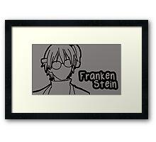 Franken Stein large silhouette print Framed Print