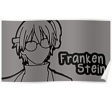 Franken Stein large silhouette print Poster