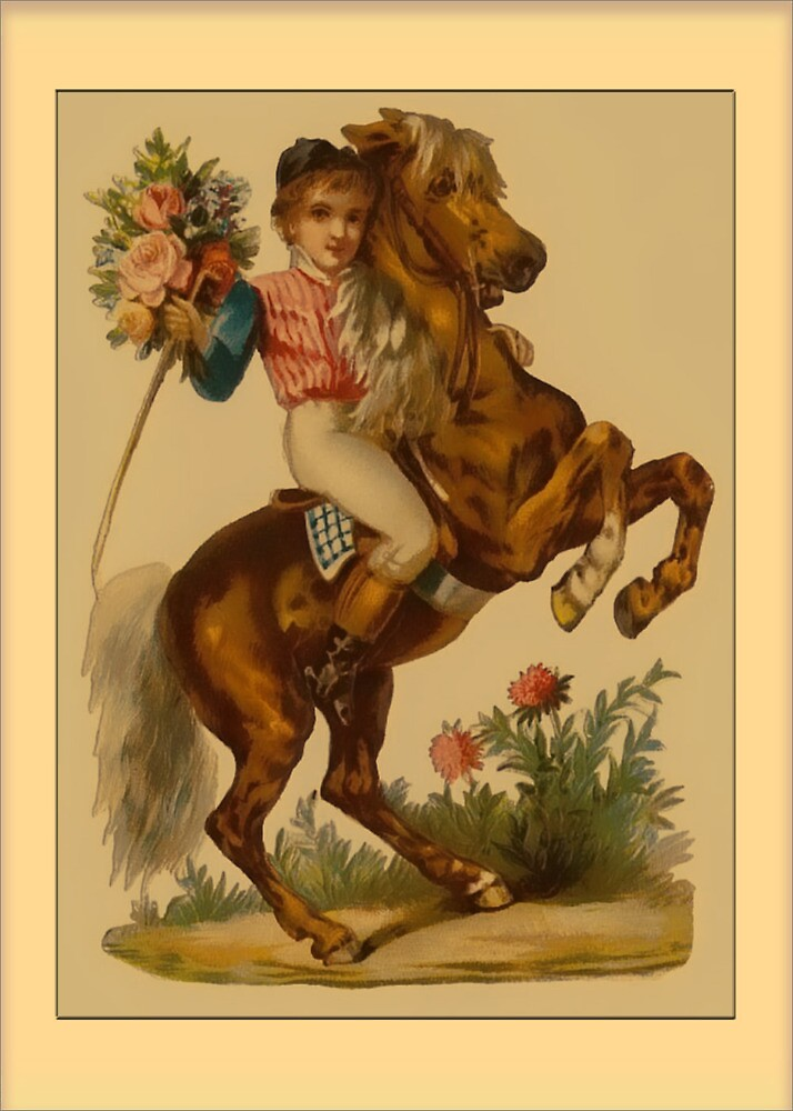 Valentine-Boy on Horse by Yesteryears